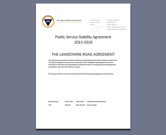 Public Service Agreement 2013-2018